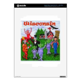 Recepción a Wisconsin Pegatinas Skins Para iPad 3