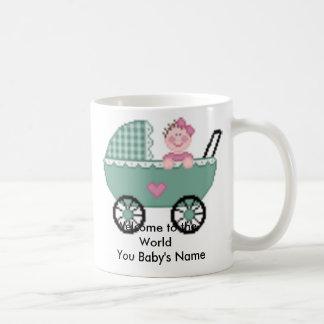 Recepción al bebé   del mundo usted… tazas