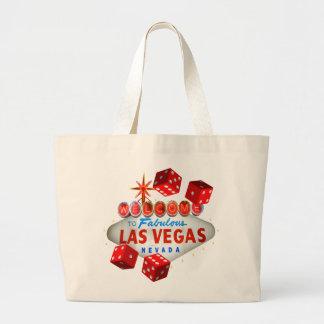 Recepción al bolso fabuloso del viaje de Las Vegas Bolsa Tela Grande