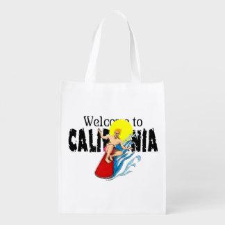Recepción al bolso reutilizable de la caloría bolsas para la compra