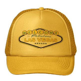¡Recepción al casquillo amarillo fabuloso de Las V Gorro De Camionero