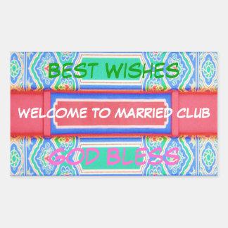 Recepción al club casado - modelo afortunado chino pegatinas