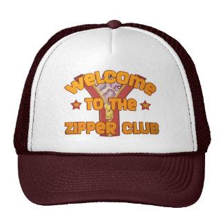 Recepción al club de la cremallera gorras de camionero