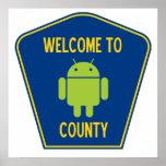 Recepción al condado androide (muestra de Droid de Poster
