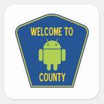 Recepción al condado androide (muestra de Droid de Colcomanias Cuadradas Personalizadas