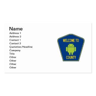 Recepción al condado androide (muestra de Droid Tarjetas De Visita