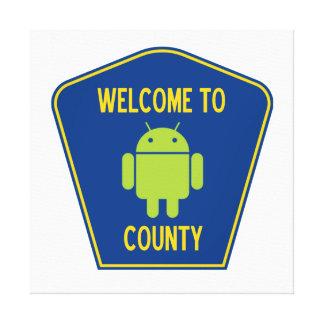 Recepción al condado androide muestra del transpo lienzo envuelto para galerias