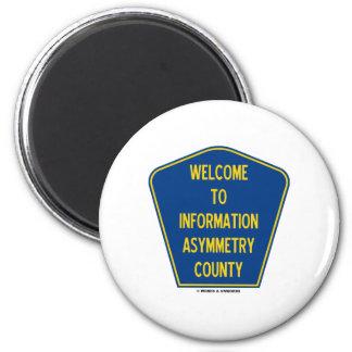 Recepción al condado de la asimetría de la informa imán redondo 5 cm