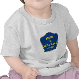 Recepción al condado de la matemáticas y de la cie camisetas