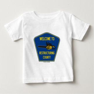 Recepción al condado de la reestructuración tshirt