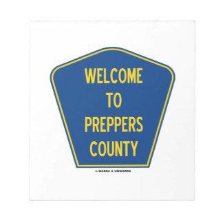 Recepción al condado de Preppers (humor de la mues Bloc De Notas