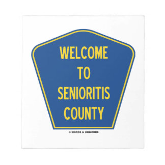 Recepción al condado de Senioritis (humor de la mu Libreta Para Notas