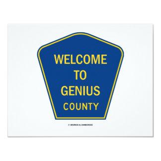 Recepción al condado del genio (muestras) invitación 10,8 x 13,9 cm