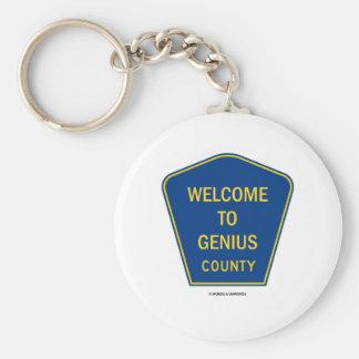 Recepción al condado del genio (muestras) llavero