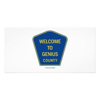Recepción al condado del genio (muestras) tarjeta fotográfica personalizada