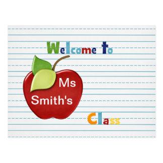Recepción al estudiante de la postal del profesor