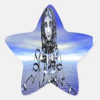Recepción al futuro pegatina en forma de estrella