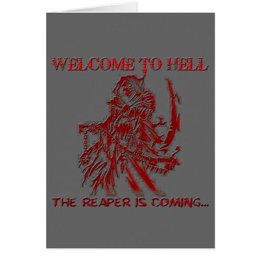 Recepción al infierno tarjetón