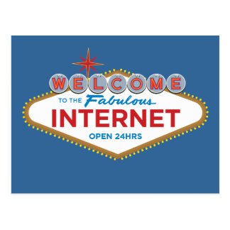 Recepción al Internet fabuloso - 24hrs abierto Postales