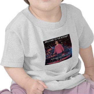 ¡Recepción al Internet! Sígame por favor Camisetas