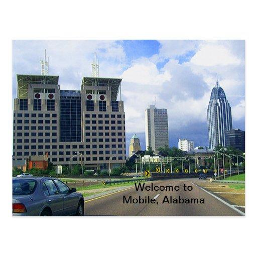 Recepción al móvil, Alabama Postales