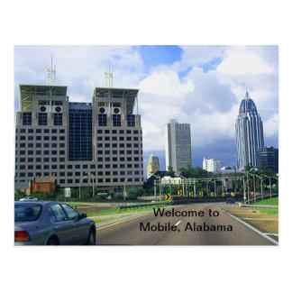 Recepción al móvil, Alabama Tarjeta Postal