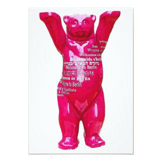 Recepción al oso de peluche de Berlín, parte Invitación 12,7 X 17,8 Cm