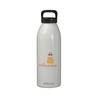 Recepción al paraíso botellas de agua reutilizables