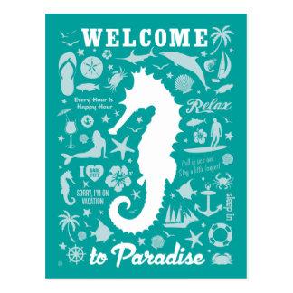 Recepción al paraíso postales