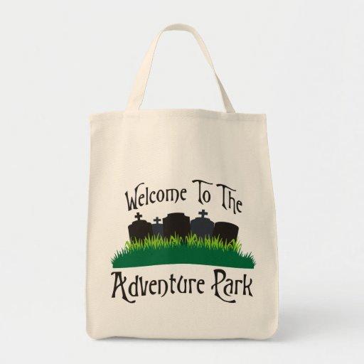 Recepción al parque de la aventura bolsa tela para la compra