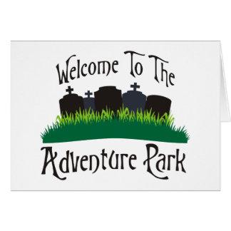 Recepción al parque de la aventura felicitación