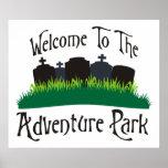 Recepción al parque de la aventura posters