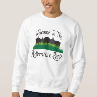 Recepción al parque de la aventura sudadera con capucha