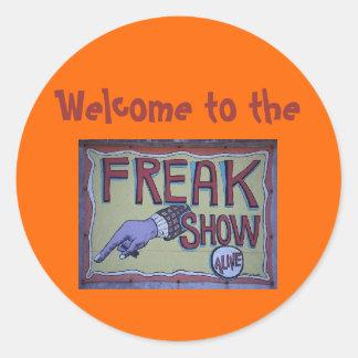 Recepción al pegatina del freakshow