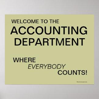 Recepción al poster del servicio de contabilidad