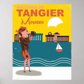 Recepción al poster del viaje del vintage de póster