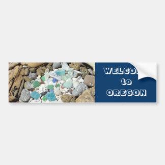 Recepción al vidrio azul del mar de las pegatinas pegatina para auto