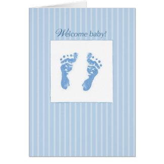 Recepción, bebé de la enhorabuena tarjeta de felicitación