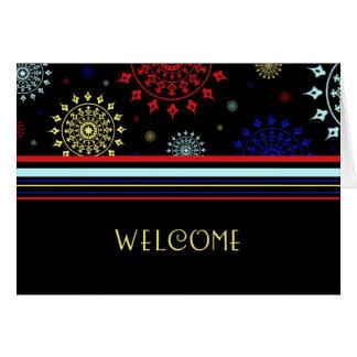 Recepción colorida del empleado a la tarjeta del e