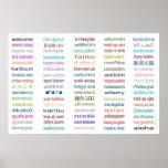 ¡Recepción colosal en poster de 80 idiomas - 5 tam