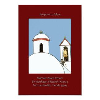 """Recepción de Belces de iglesia Invitación 3.5"""" X 5"""""""