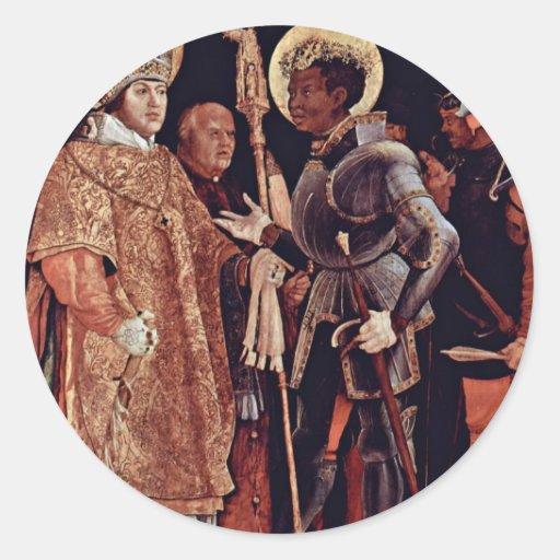 Recepción de Erasmus del St. por la descripción Pegatina Redonda