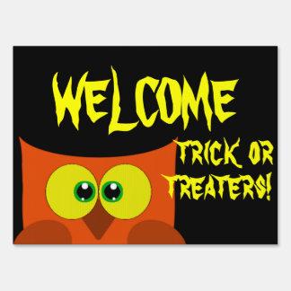 Recepción de Halloween del búho Señal