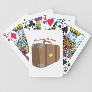 Recepción de la aventura baraja de cartas