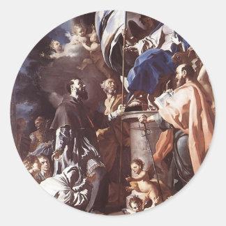 Recepción de la bandera del sepulcro del St. Pegatina Redonda