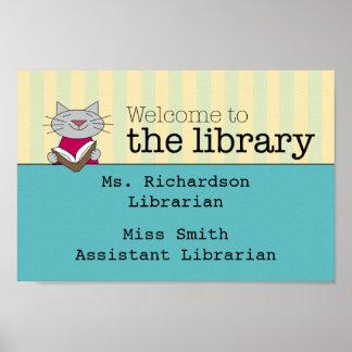 Recepción de la biblioteca posters