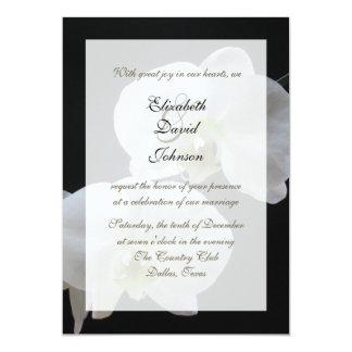 """Recepción de la boda de la orquídea que casa invitación 5"""" x 7"""""""