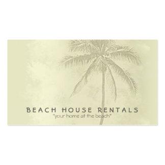 Recepción de la casa de playa tarjetas de visita