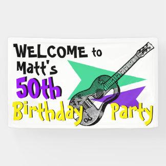 Recepción de la guitarra a la 50.a bandera de la lona