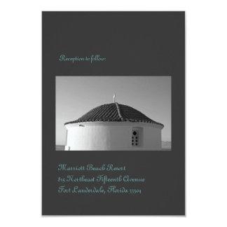 """Recepción de la iglesia de la isla invitación 3.5"""" x 5"""""""
